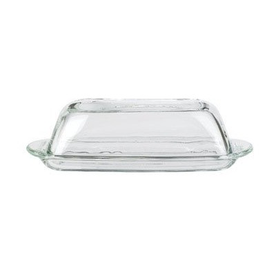 Anchor Hocking Presence Design Butter Dish with Cover by Anchor Hocking
