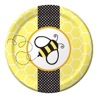 Creative ConvertingベビーシャワーBuzz 8 Count Paper Lunch Plates