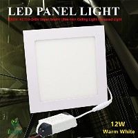 LEDパネルライト 12w Square Panel Light 12w-S-WW