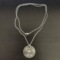 DISTURBIA フリーメイソンオカルトアイコインネックレス COIN NECKLACE