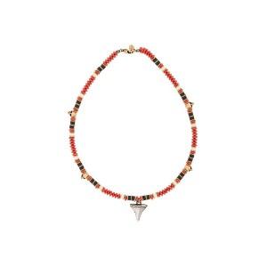 Alexander McQueen beaded shark tooth necklace - マルチカラー