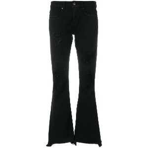 Dondup cropped flared jeans - ブラック