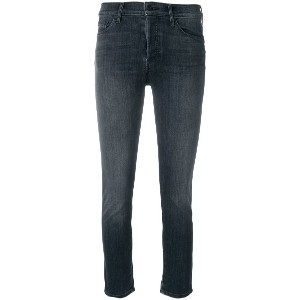 Mother slim fit cropped jeans - ブラック