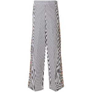 Ports 1961 flared striped trousers - ブラック