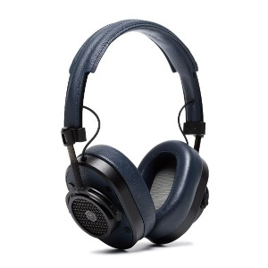 Master & Dynamic Blue and Black MH40 Over Ear Leather Headphones -
