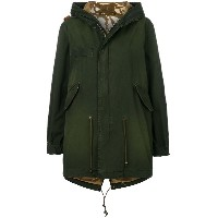 Mr & Mrs Italy cropped hooded parka - グリーン