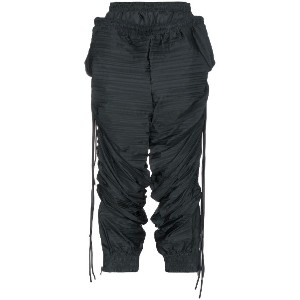 Y / Project oversized double layered cropped track pants - グリーン