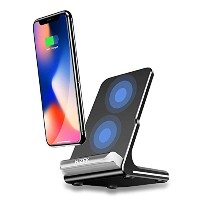 Qi 急速 ワイヤレス充電器 Hizek Quick Charge ワイヤレスチャージャ 置くだけ充電 iPhone X / iPhone 8 /iPhone 8 Plus / Galaxy...