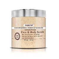 SANDALWOOD FACE AND BODY SCRUB FABEYA BIOCARE NATURAL - NO PARABENS AND SULPHATES 340 ML