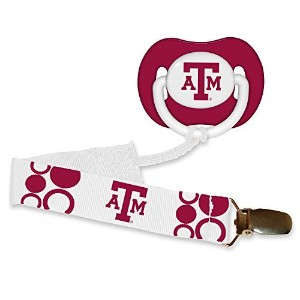 Texas A&M Aggies Infant Pacifier and Pacifier Clip - NCAA Baby Fanatic Combo Gift Set by Baby...