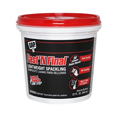 DAP 12140 Fast N Final Interior Exterior Spackle、1 / 2-pint Quart ホワイト 12142 1