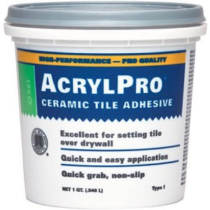 Custom Building Products 1 Quart Blanc AcrylPro carreaux de c-ramique ARL4000QT Mastic - Lot de 6