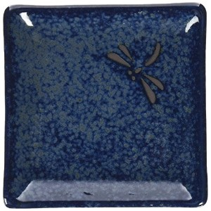 Happy Sales 6 Piece Dragonfly Appetizer Plate Set, Blue by Happy Sales
