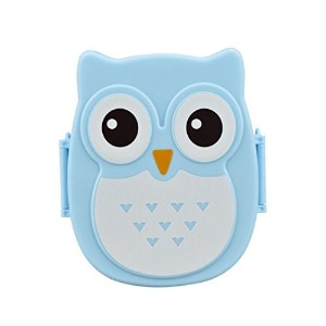 Voberryテつョ Kids Cute Owl Lunch Box Food Container Storage Box Portable Bento Box (Blue) by Voberry