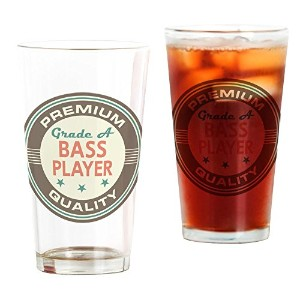 CafePress – Bass Playerヴィンテージ – パイントガラス、16オンスDrinkingガラス クリア 089147445833332