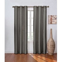 Eclipse Madison Blackout Window Curtain Panel, Smoke, 42 by 84 by Eclipse Curtains