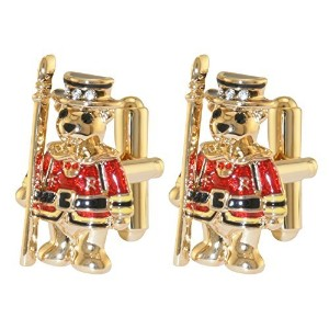 Beefeater Teddy Cufflink–スワロフスキークリスタル–Licensed by Historic Royal Palaces、ロンドン
