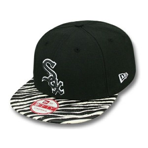 NEW ERA CHICAGO WHITE SOX 【OSTRICH-ZEBRA 9FIFTY STRAPBACK/BLK-WHT】 ニューエラ シカゴ ホワイトソックス [18_1_3NE]