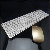 CCLOON USB Full-Size Wireless Ergonomic Wired Office Game Keyboard and Mouse Combo Long Battery...