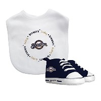 Baby Fanatic Bib with Pre-walker, Milwaukee Brewers by Baby Fanatic