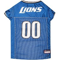 NFL Detroit LionsライトブルーメッシュペットFootball Jersey s DET-4006-SM
