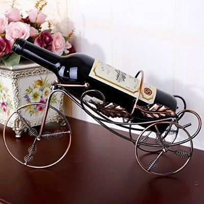 (Rose golden) - Happy E-life High Quality Stainless Steel Bicycle Shape Wine Rack Home Decoration ...