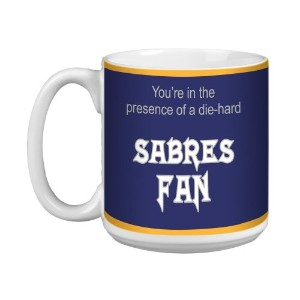 tree-free Greetings xm28172 Sabres HockeyファンArtfulジャンボマグ、20-ounce