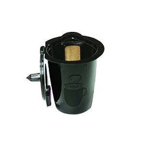 ゴールドトーンkarafe-plus Reusableコーヒーフィルタ、Fits Keurig 2.0 Brewersモデルk200、k300、k350、k450 , k550 and k560
