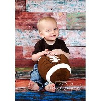 Photography Weathered Faux Wood Floor Drop Background Mat CF4298 Rubber Backing, 4'x5' High Quality...
