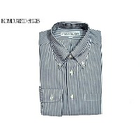 INDIVIDUALIZED SHIRTS(インディビジュアライズド シャツ)/L/S STANDARD FIT B.D. PINPOINT OXFORD STRIPE SHIRTS/white x...