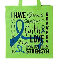 Inktastic I Have。。。Inspirational Words for Those Fighting Colon Cancerトートバッグ One Size