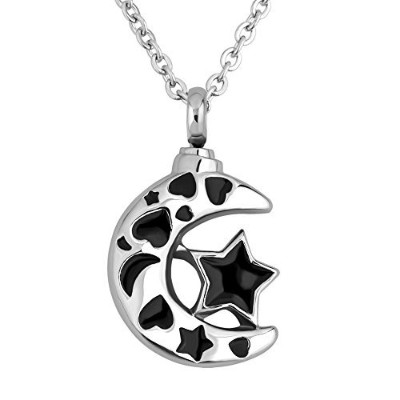 luckyjewelry Cremation I Love You To The Moon And Back Urnペンダントネックレスfor灰Memorial記念品