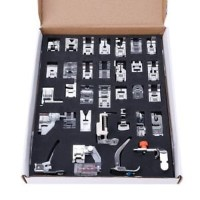 32Pcs Domestic Sewing Machine Foot Presser Feet Set For Singer Brother Janome