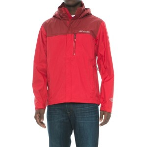 コロンビア メンズ アウター レインコート【Pouration Omni-Tech Rain Jacket - Waterproof】Mountain Red/Red Element