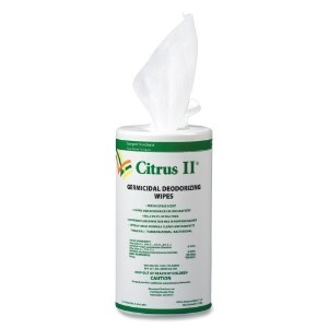 Wholesale CASE of 15 - Beaumont Citrus II Germicidal Wipes-Germicidal Deodorizing Wipes, 125 Wipes,...