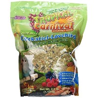 F.M.Brown's Tropical Carnival Natural Cockatiel-Lovebird Food, 2.5-Pound Package by F.M. Brown's