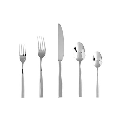 Fortessa 5pps-102–20pc 20Piece Lucca Place Setting Flatware、11.13、シルバー