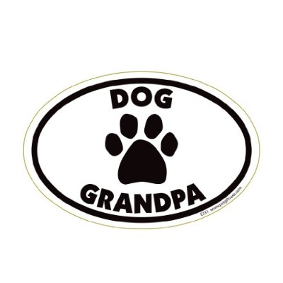 Dog Grandpa Oval Magnet by Pet Gifts USA