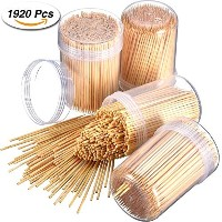Frienda Good Quality Bamboo Wooden Toothpicks Ornate Wooden Toothpicks, 4 x 480 Pieces (1920 Pieces)