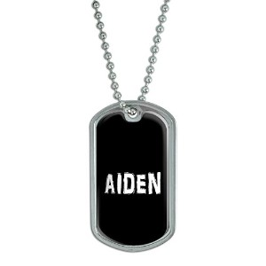 Aiden – 名前軍犬タグ荷物キーチェーン