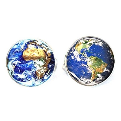 スチームパンク – Space ExplorerワールドマップGlobe – Men 's Cufflinks Cuff Links – Earth e1