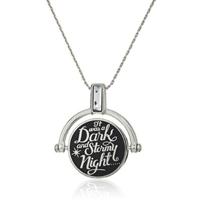 Alex and Ani Womens Wrinkle in Time–Dark and Stormy Nightスピナー拡張可能なネックレス Expandable