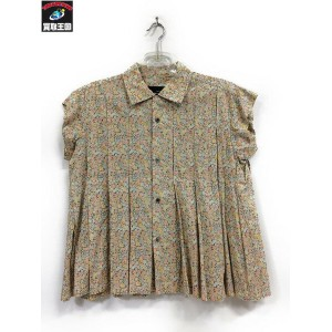 tricot COMME des GARCONS 小花柄タックプリーツブラウス【中古】[値下]