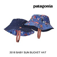 2018 PATAGONIA パタゴニア 帽子 ハット BABY SUN BUCKET HAT MOIM MONO MEADOW: IMPERIAL BLUE