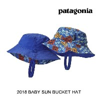 2018 PATAGONIA パタゴニア 帽子 ハット BABY SUN BUCKET HAT DOIB DOGFISH: IMPERIAL BLUE