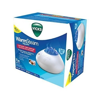 VICKS スチーム式加湿器 1.5ガロン(約5.7リットル) V150SGNL, Vicks 1.5 Gallon Warm Steam Vaporizer with Night-Light,...