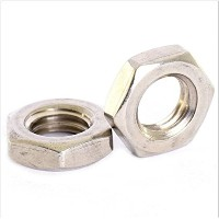 YunShuo A2 STAINLESS FINE PITCH HEXAGON HALF LOCK NUTS HEX THIN NUT (5, M20X1.5[Height Of Nut 10mm])