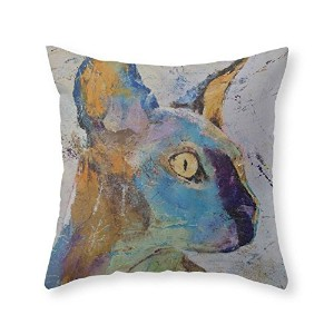 """society6Sphynx Cat Throw枕 Cover (16"""" x 16"""") with pillow insert s6-3717055p26a18v129a25v193"""