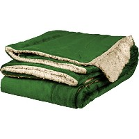 """towelsoft Micro Mink Sherpa Throw、50"""" x60 50"""" x 60"""" グリーン DP1709-FOREST-1"""