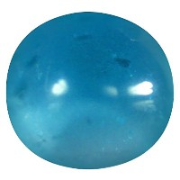 アパタイト ルーズジェームズ 1.07 ct AAA Round Cabochon Shape (6 x 6 mm) Brazilian Paraiba Blue Apatite Gemstone